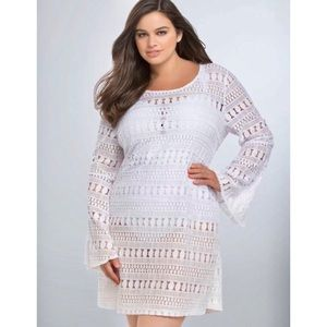 TORRID Lace Tie Back Swim Cover Up